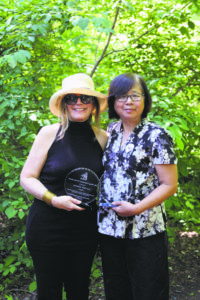The Lily Wang Community Service Award recipients are Lori Beth Schwartz (left) and Betty Leong.
