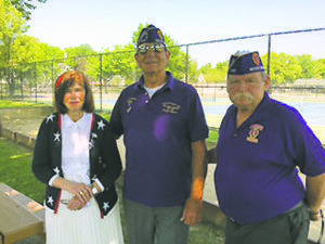 "From left: Councilwoman Lee Seeman; Commander Bob Chaippone, Nassau County Military Order of the Purple Heart; Conrad ""Connie"" Steers, past commander"
