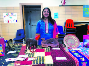 Anuleka Ganguli created this display about India to help educate members of the community about her culture.