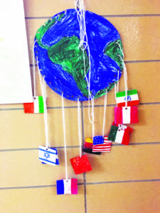 This is one of the posters created by North Middle students in their social studies classes to prepare for the event.