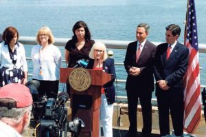 North Hempstead Town Supervisor Judi Bosworth warns residents not to boat while intoxicated.