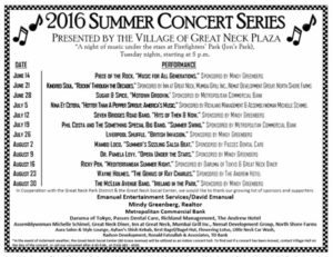 ConcertsH Schedule