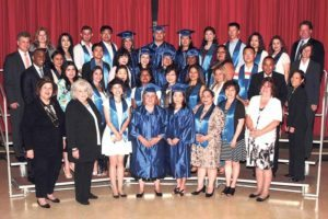 Great Neck Adult Learning Center graduates (Photo by Irwin Mendlinger)