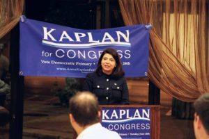 Kaplan delivered her concession speech.