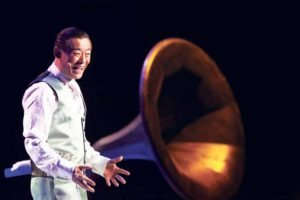 Zhou on stage