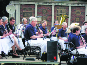 Beatrice Aubrey (second from left) plays the clarinet with the Rotary Band circa 2005.