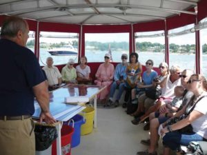 A sold-out crowd learned the history and significance of the Stepping Stones Lighthouse from members of the Great Neck Historical Society.