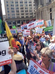 The March for a Clean Energy Revolution on July 24 in Philadelphia