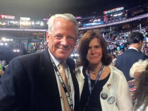Congressman Steve Israel and Democratic State Committeewoman Lee Seeman at the Democratic National Convention
