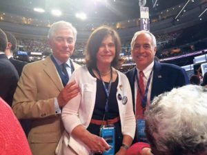 From left: National Democratic Committeeman Robert Zimmerman,  Democratic State Committeewoman Lee Seeman and Comptroller Thomas  DiNapoli at the Democratic National Convention in Philadelphia last week