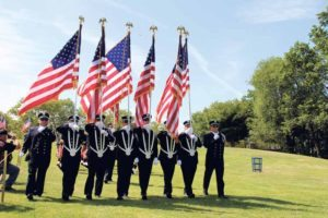 Law enforcement rally honor guard