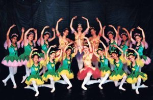 Students dancing the Garden of Flowers from Le Corsaire in 2001