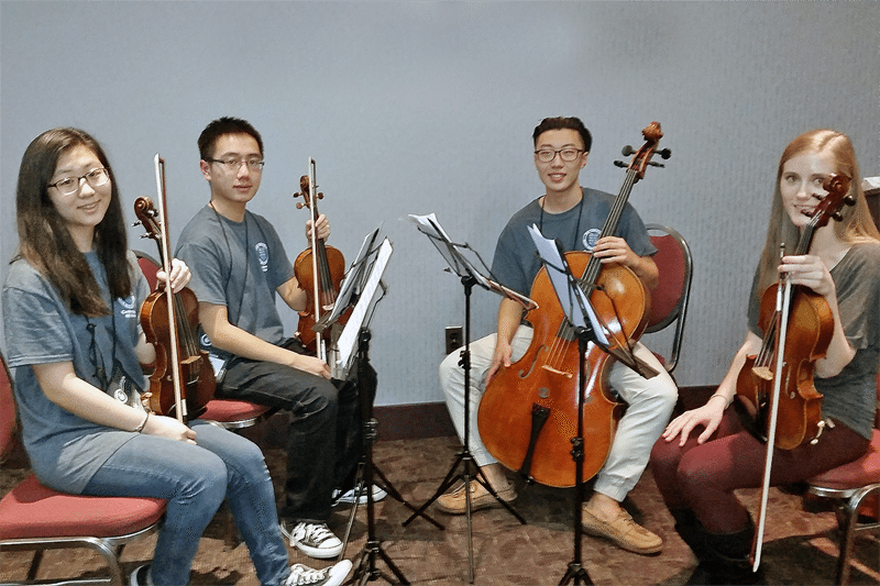 From left: Christine Suh, Zhengkuan (Kenny) Huang, Joshua Lee and Helena Woroniecka