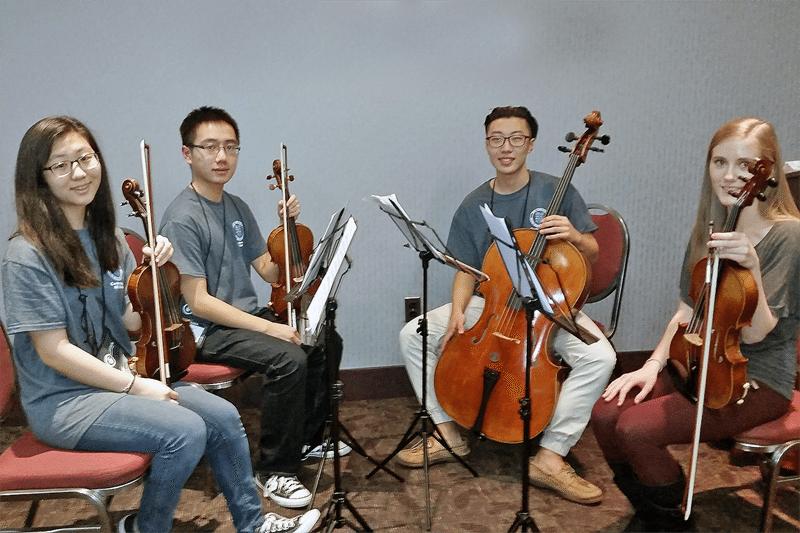 From left: Christine Suh, Zhengkuan (Kenny) Huang, Joshua Lee and Helena Woroniecka