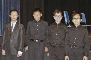 North Middle LISFA String Quartet, from left: Daniel Zeng, Adam Tsou, Jeremy Bernstein and Brandon Lin