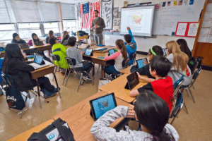 iPads are useful tools in classroom teaching. (Photo by Jeff Barlowe)
