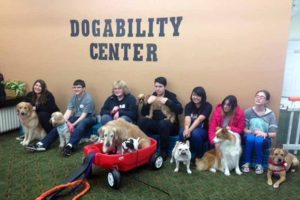 SEAL students visited the DogAbility center where therapy dogs help people in need.