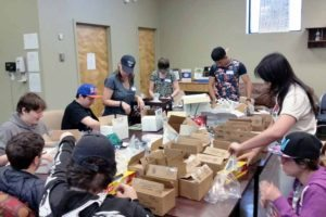 SEAL students helped organize items at the Mary Brennan INN Soup Kitchen.