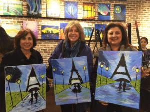 From left: Lisa Kaplan, Jody Finkel and Liza Schwartz