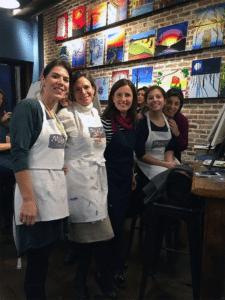 From left: Scharone Meishar, Emilia Macagno, Larisa Davidson, Tsivya and Laura Laurence