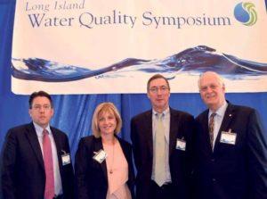 From left: Nassau County Legislator Donald MacKenzie, Assemblywoman Michelle Schimel, Suffolk Water Authority Chairman James Gaughran and Assemblyman Steven Englebright