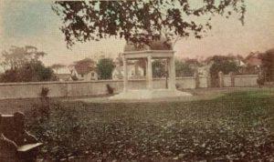 The original bandstand in Village Green