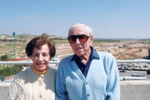Dr. Howard and Lottie Marcus visiting Ben-Gurion University in Israel in 2005