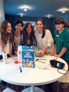 JLE Teen Club baked chocolate chip crunch cookies for children staying at the Ronald McDonald House.