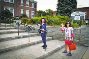 Town of North Hempstead Councilwoman Anna Kaplan (left) and her Legislative Aide Sabereh Samet put on their sneakers and walked to work last September to mark the Third Annual Car Free Day Long Island.