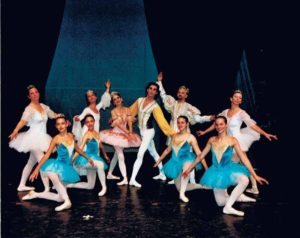 The dancers from Raymonda in 2002 (clockwise from top left): Madeleine Klein, Marcia Kresge, Roberta Senn, Momchil Mladenov, Thomas Smusz, Leslie Aiuto, Lauren Carahalios, Laurel B., Kristina Mosco and Moira McDermott