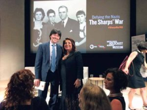 Latifa Woodhouse with director Ken Burns at the Holocaust Museum in Washington, DC