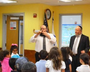 Students learned about the shofar.