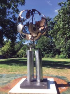 The sculpture will stand at the Plainview-Old Bethpage Library.(Photos courtesy of David Haussler)