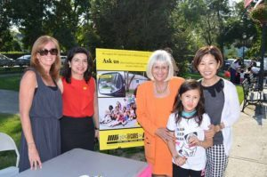 Councilwoman Anna Kaplan and Supervisor Judi Bosworth at Kids Safety Day