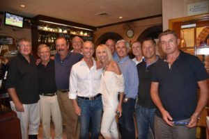 Barbara Mandell with the winning tennis team