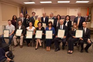 Last year's Hispanic Heritage Month honorees are pictured with Town Supervisor Judi Bosworth, Town Clerk Wayne Wink, Councilwoman Viviana Russell, Councilman Peter Zuckerman, Councilman Angelo Ferrara, Councilwoman Anna Kaplan, Councilwoman Lee Seeman and Councilwoman Dina De Giorgio.