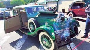 Last year's featured car was a 1934 limited-edition Rolls Royce Park Ward Saloon owned by Mark Rudes.