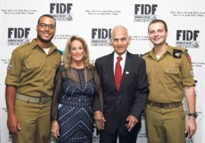 From left: IDF Staff Sergeant (Res.) Daniel; Lidia Ben-Josef and her husband, FIDF Long Island Annual IDF Appreciation Evening Chairman Edeed Ben-Josef; and IDF Staff Sergeant Mishel