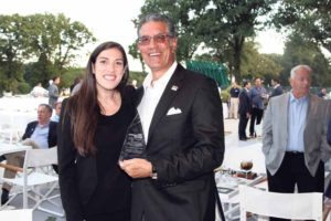 From left: FIDF Tri-State Real Estate Division Director Olivia Lichaa with Matthew E. Kasindorf, Esq., who was honored