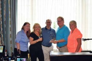 Members of Long Island Community Chest receiving their award