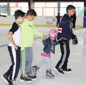 Skaters of all abilities had fun.