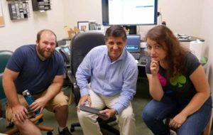 PATV Fall Workshop instructors, from left: Mike Peters, Marcelo Mendez and Rebecca Farina