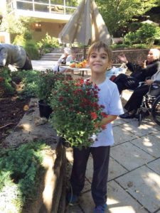 Great Neck resident Jordan Fefer, age 6, is a big help!