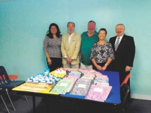 The Rotary Club of Great Neck gave back to the community by donating school supplies to COPAY.