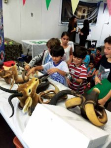 Students discover how a shofar is made.