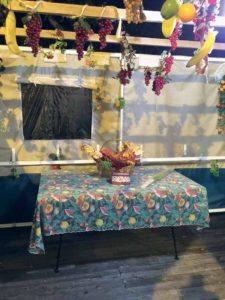 The festivities were held in the sukkah.