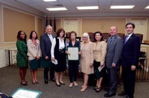 Town of North Hempstead Supervisor Judi Bosworth and the town board with Councilwoman Lee Seeman's Hispanic Heritage Month honoree, Silva Akerman