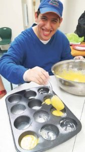 Ross in cooking class at CDD.