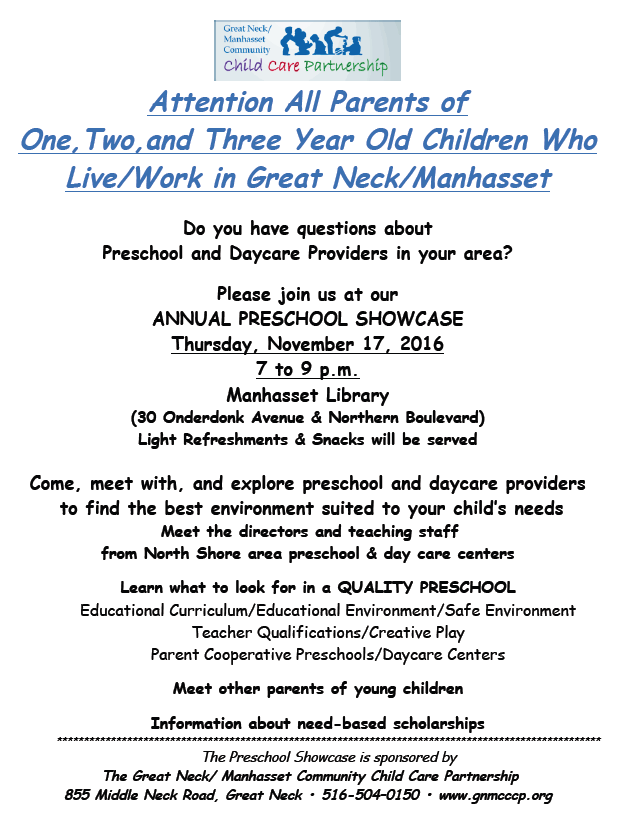 Preschool Showcase