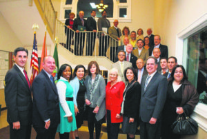 Town officials and several local Chamber of Commerce presidents join together to celebrate Small Business Saturday.